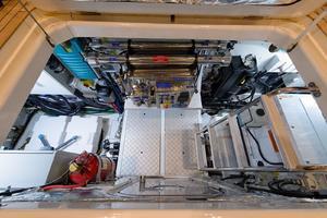 68' Princess Flybridge 68 Motoryacht 2015 Hatch to Engine Room