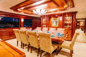 150' Richmond Yachts Tri-deck Motor Yacht 2010 MAIN DINING