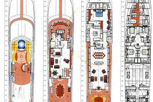 150' Richmond Yachts Tri-deck Motor Yacht 2010 DECK LAYOUT