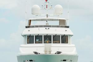 150' Richmond Yachts Tri-deck Motor Yacht 2010 AT ANCHOR BOW