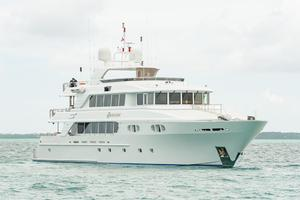 150' Richmond Yachts Tri-deck Motor Yacht 2010 AT ANCHOR STARBOARD