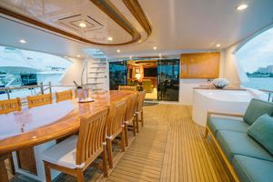 150' Richmond Yachts Tri-deck Motor Yacht 2010 UPPER DECK  ALFRESCO DINING AFT