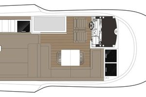 49' Sealine F490 2013 Manufacturer Provided Image: Sealine F490 Flybridge Layout A