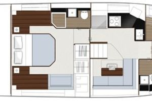 49' Sealine F490 2013 Manufacturer Provided Image: Sealine F490 Layout Option Lower Deck