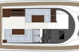 49' Sealine F490 2013 Manufacturer Provided Image: Sealine F490 Upper Deck Diner Layout