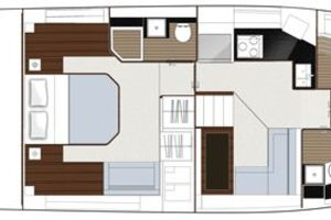 49' Sealine F490 2013 Manufacturer Provided Image: Sealine F490 Layout Option Lower Deck Office