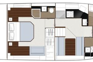 49' Sealine F490 2013 Manufacturer Provided Image: Sealine F490 Layout Option Lower Deck Original