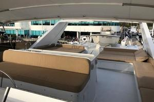 100' Broward Raised Pilothouse 2000 Flybridge - looking aft from Helm