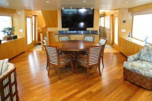 100' Broward Raised Pilothouse 2000 Salon/Dining looking forward