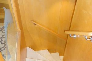 100' Broward Raised Pilothouse 2000 Aft Staircase to Accommodations