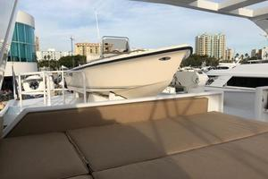 100' Broward Raised Pilothouse 2000 Flybridge - aft sun lounge and Tender