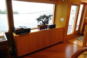 100' Broward Raised Pilothouse 2000 Salon Cabinetry Portside