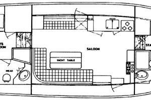42' Grand Banks 42 Classic 1984 Layout