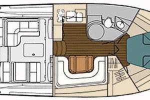 38' Tiara 3800 Open 2003 Manufacturer Provided Image: Interior Plan