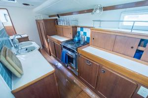 62' Deerfoot 2-62' 1987 Deerfoot 62' - galley aft view