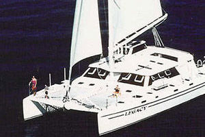 65' Woodwind Kurt Hughes Custom Catamaran  1999 Under Sail