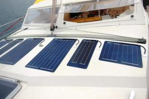 53' Amel Super Maramu 1995 solar panels on deck