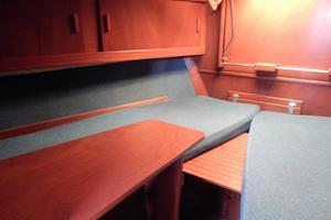 53' Amel Mango 1982 Cabin with fold down desk