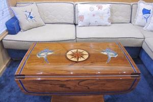 60' Bertram Convertible 1995 Main Salon Custom Teak Table