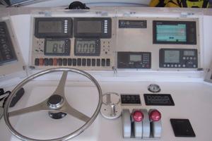 60' Bertram Convertible 1995 Flybridge Helm