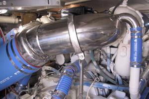 60' Bertram Convertible 1995 Port Engine Exhaust