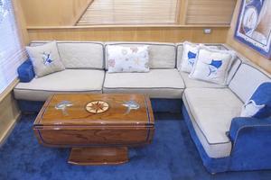 60' Bertram Convertible 1995 Main Salon Couch
