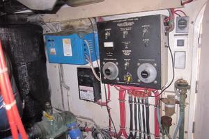 60' Bertram Convertible 1995 Engine Room Battery Isolators