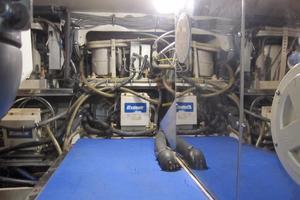 60' Bertram Convertible 1995 Engine Room Forward Port