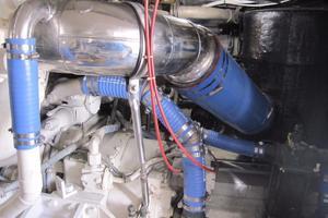 60' Bertram Convertible 1995 Starboard Engine Exhaust