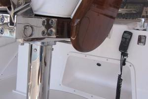 60' Bertram Convertible 1995 Flybridge Helm Chairs Detail