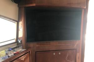 63' Bertram Convertible 2007 Main Salon TV