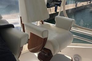 63' Bertram Convertible 2007 Flybridge Helm Chairs