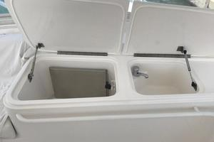 63' Bertram Convertible 2007 Flybridge Sink and Refrigerator