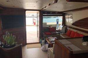 63' Bertram Convertible 2007 Main Salon Aft