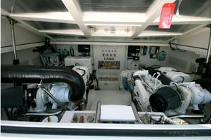 40' Cabo Express 2011 Engine Room Looking Forward