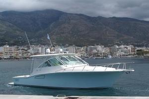 40' Cabo Express 2011 Starboard Bow Profile