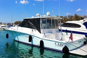40' Cabo Express 2011 Port Stern Profile