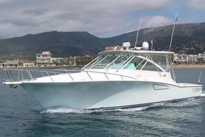 40' Cabo Express 2011 Port Bow