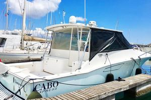 40' Cabo Express 2011 Starboard Stern Profile