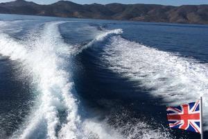 40' Cabo Express 2011 Underway
