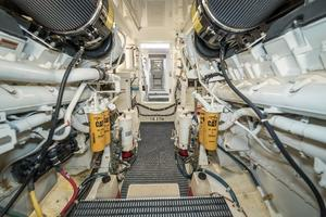 64' Hatteras 64 Motor Yacht 2006 Engine Room Looking Aft