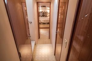 64' Hatteras 64 Motor Yacht 2006 Companionway looking Aft
