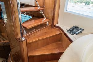 64' Hatteras 64 Motor Yacht 2006 Stairs to Flybridge