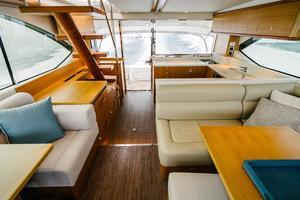 50' Riviera 50 Enclosed Bridge 2015 Salon Looking Aft