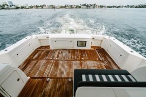 50' Riviera 50 Enclosed Bridge 2015 Teak Cockpit