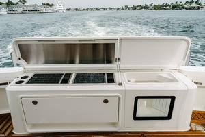 50' Riviera 50 Enclosed Bridge 2015 Twin Grills, Storage, and Livewell