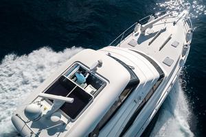 50' Riviera 50 Enclosed Bridge 2015 Sunroof Open