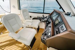 50' Riviera 50 Enclosed Bridge 2015 Pompanette Helm Chairs
