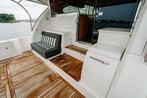 50' Riviera 50 Enclosed Bridge 2015 Mezzanine and Engine Room Access