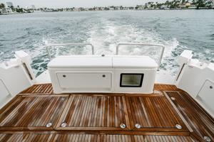 50' Riviera 50 Enclosed Bridge 2015 Two Fold-Out Transom Doors Open